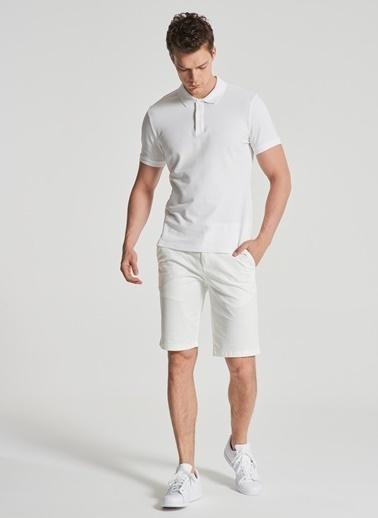 Pi π Polo Yaka Tişört Beyaz